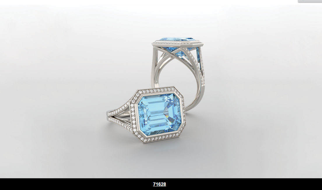 HALO-STYLE BEZEL SET RING