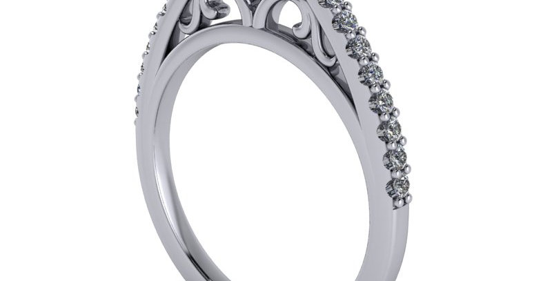 Floral halo design ring for a 1.00ct finger size L ( 6 ) stl file.