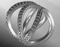 Diamond Dress Ring Modern.