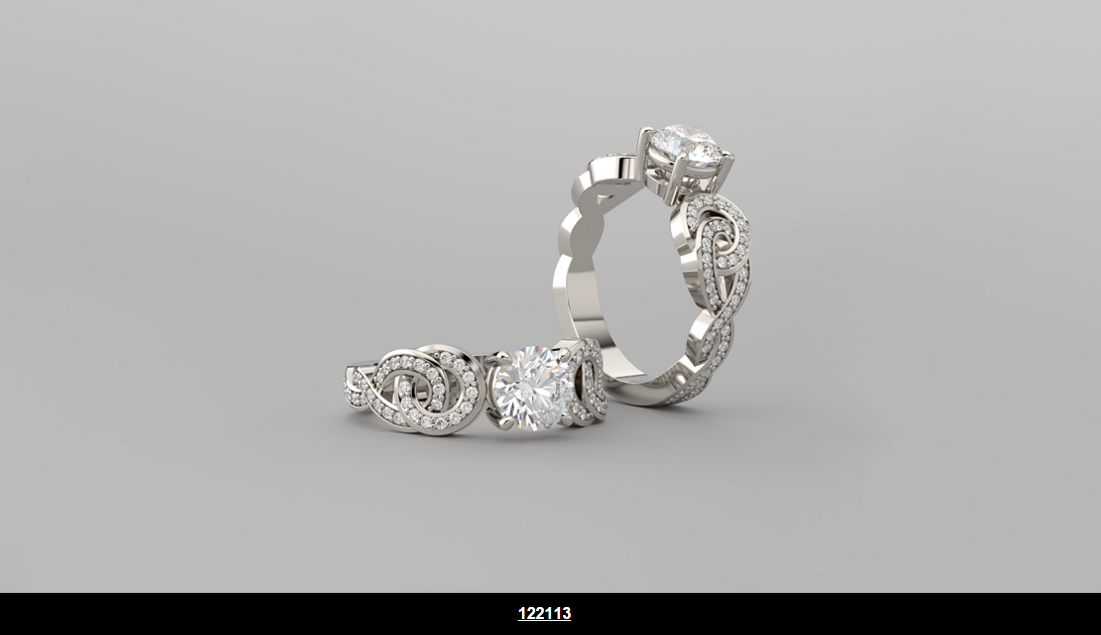 ACCENTED SCROLL ENGAGEMENT RING