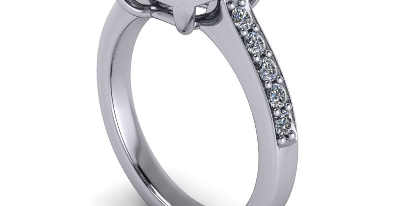 A halo ring design for a 1.10ct cushion cut diamond. Finger size M  ( 7 )  a STL