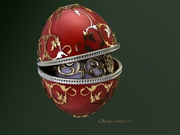Faberge Style CAD Design I Did.