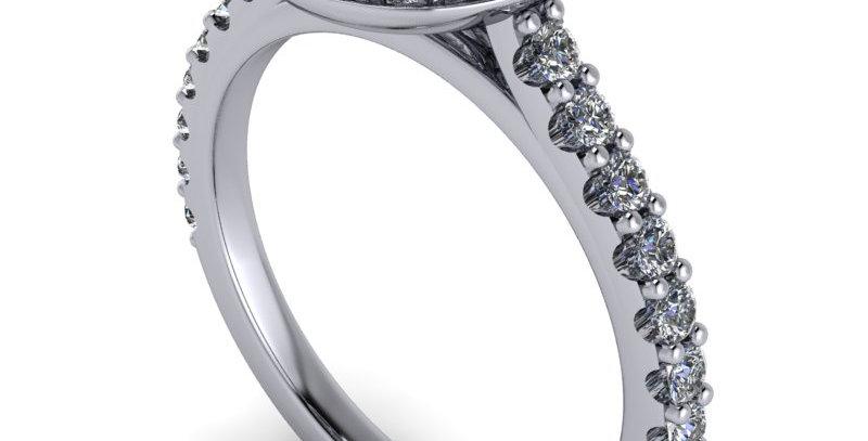Diamond Halo design for a 0.80ct diamond finger size L ( 6 )