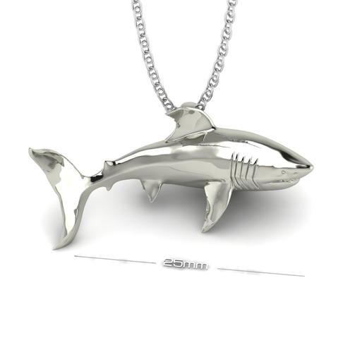 Great White Shark Pendant
