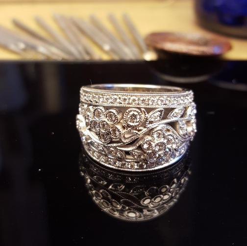 Filigree Diamond Dress Ring