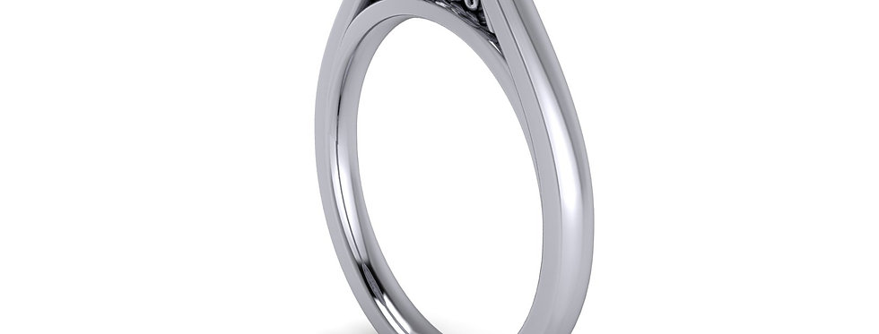 Diamond set Halo ring design for a 1.00ct diamond, finger size L (6)