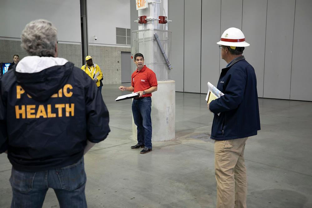 Safety meeting being documented through MeritEHS
