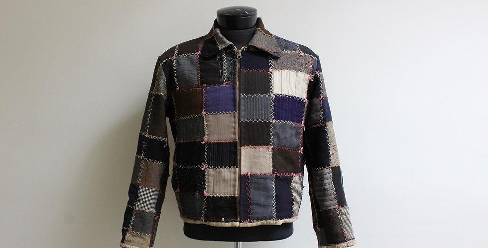 vintage crazy wool quilt jacket