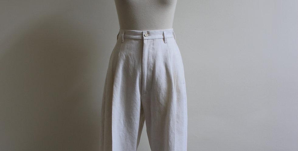 vintage linen women's trouser