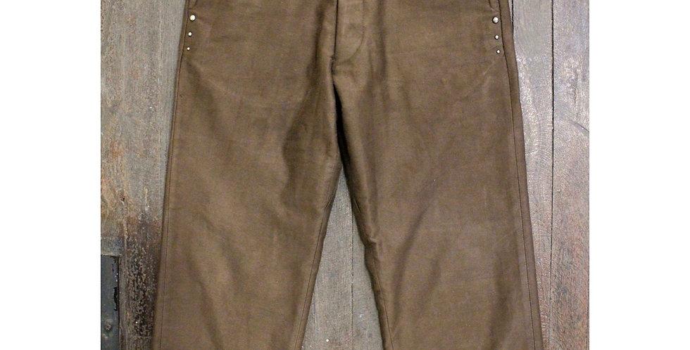 Vintage moleskin studded pants