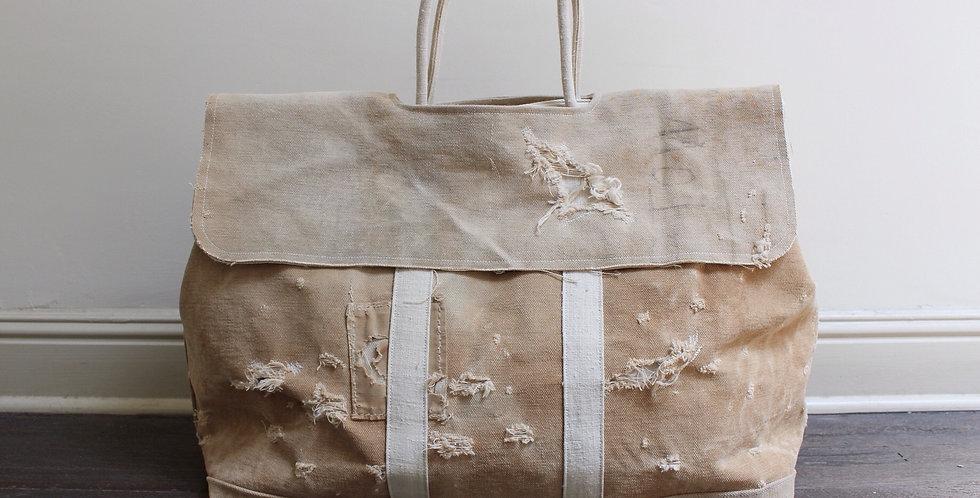 Distressed canvas market bag