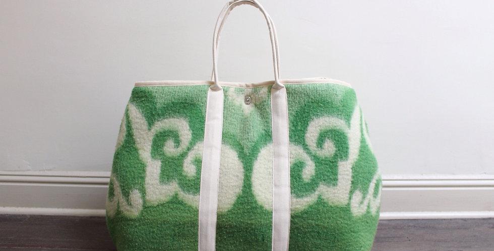 vintage blanket market bag