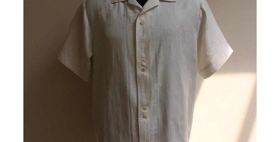 vintage damask linen shirts M
