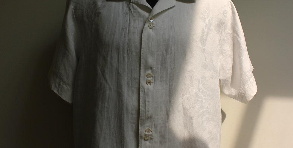 vintage damask linen shirts L