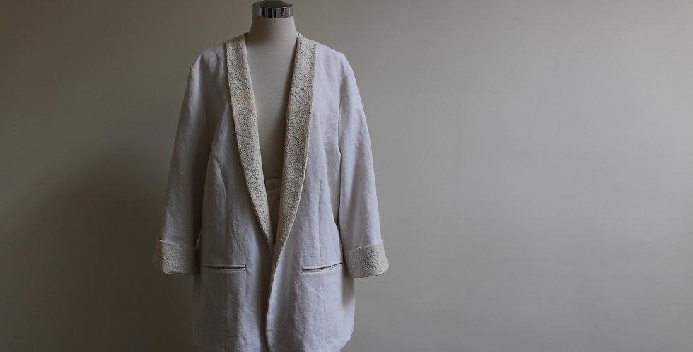 vintage linen women's jacket