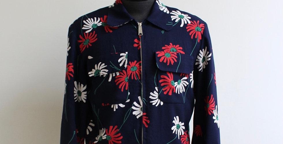Vintage flower rayon jacket