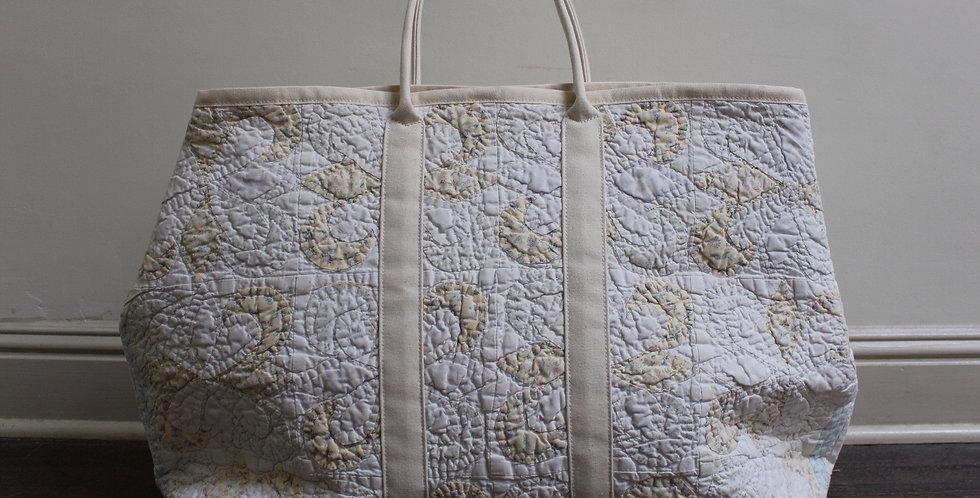 Vintage quilt market bag