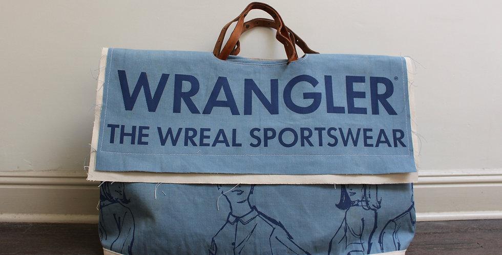 vintage Wrangler banner market bag