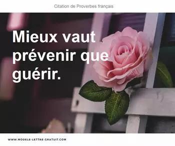 Mieux vaut prévenir que guérir