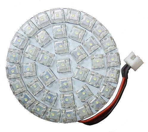 LED Dome Panel Light, 39 LED, White, Panel Round Diameter: 39mm, per Pair