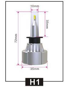 LR-H1, LED HeadLight, H1, DC10-32V, Fan, Pair