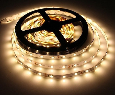 LED Strip, 3528 SMD, 5M, 300LED, Warm White, Waterproof
