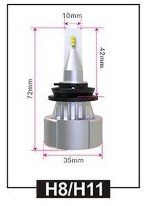 LR-H11, LED Headlight, H11, DC10-24V, Fan, Pair