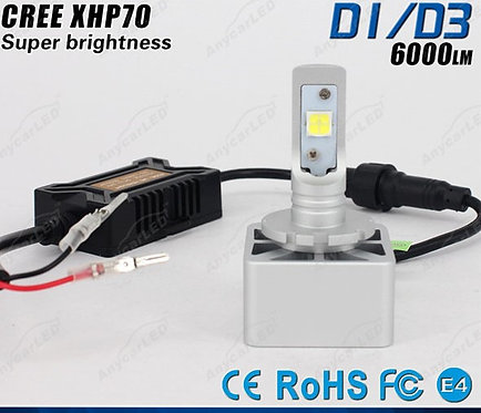 L8-D2, LED Headlight, Cree, D2, 4000LM, DC10-32V, Fan, 6500K,LED