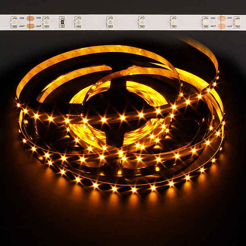 LED Strip, 3528 SMD, 5M, 300LED, Yellow, Waterproof