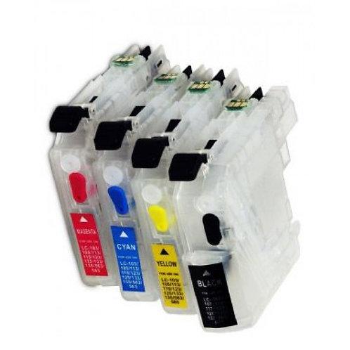 4 Cartouches rechargeables pour brother LC223 Préremplies
