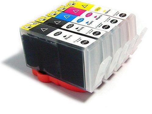 Pack 5 Cartouches compatibles et rechargeables pour HP364XL