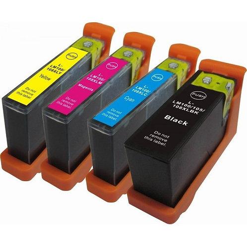 Pack 4 Cartouches compatibles et rechargeables pour HP364XL