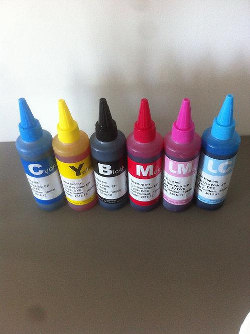 Kit d'encre 600ml pour HP363 Noir/Cyan/Magenta/Jaune/Light cyan/Light Magenta