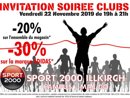 INVITATION SOIREE CLUBS SPORT 2000