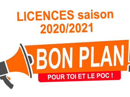 Renouvellement ou nouvelle licence pour la saison 2020/2021