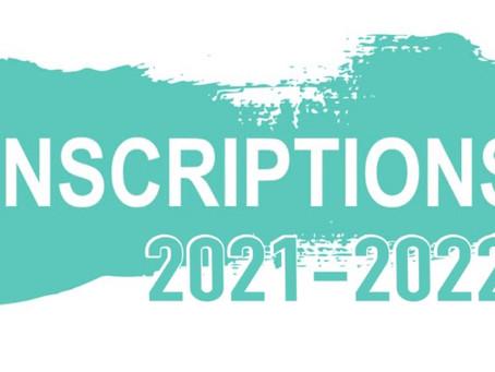 Inscriptions Licences saison 2021/2022