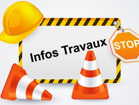 TRAVAUX : prévus du 17 /8 au 31/10.