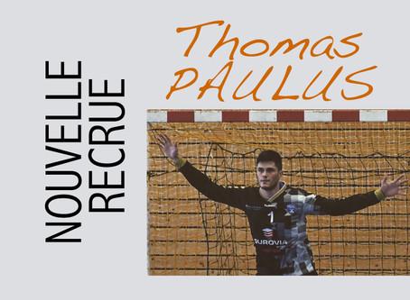 Thomas PAULUS : Nouvelle recrue