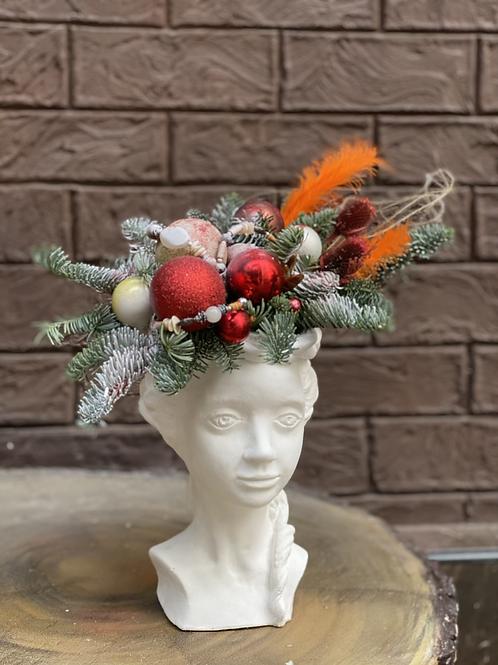Композиция «Дама в шляпке»