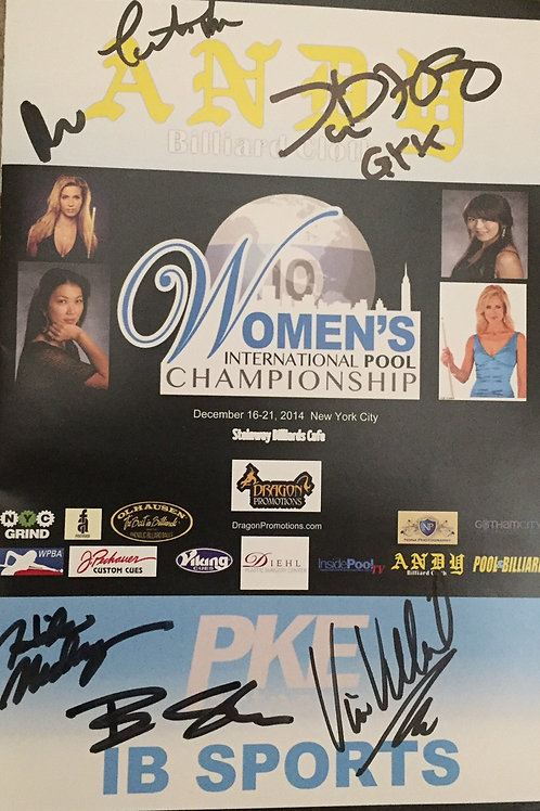Women's International Pool Championship Autographed by
