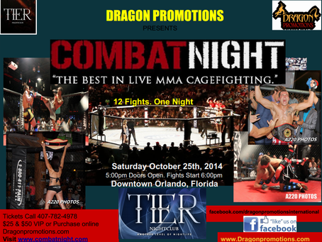 Dragon Promotions Enters the World of MMA October 25th