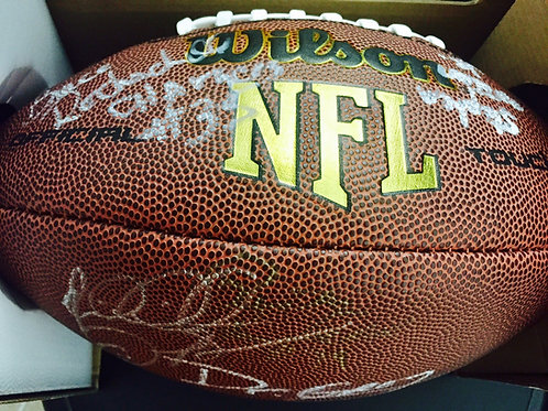 NFL Football Autographed by: