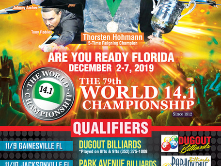 Qualifiers Announced for Orlando, Gainesville, JAX: Germany's Ralph Eckert Makes 11th World 14.1