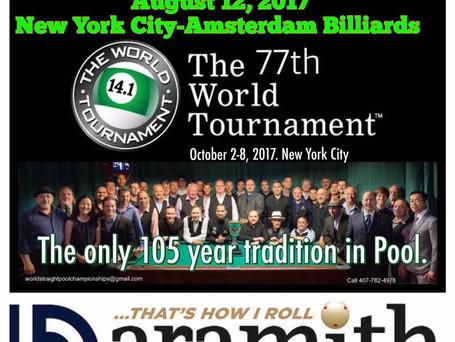 BottleDeck.net 77th World 14.1:  Chicago & New York City Qualifiers Announced