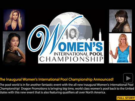 The Inaugural Women's International Pool Championship Announced!