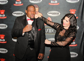 Bowe Supports Houston's Black Tie Boxing event for Lone Survivor Foundation