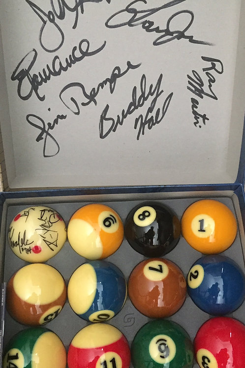 Aramith Billiard Balls used at the Legends of Pool