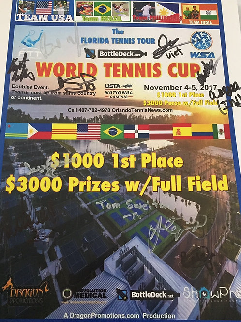 1st WSA Sanctioned Tennis Championship signed by all
