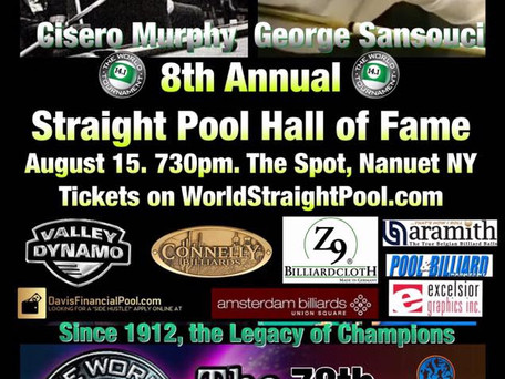 Cisero Murphy & George SanSouci: 2018 Straight Pool Hall of Fame August 15