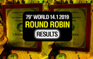Round Robin Results - 79th World 14.1 2019